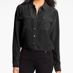 Vince Camuto Silk utility dressy top S